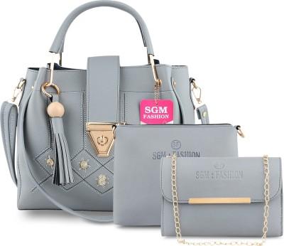 SGM Fashion Women Grey Shoulder Bag(Pack of: 3)