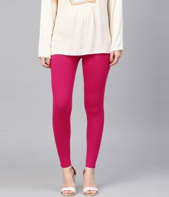 FUBAR Ankle Length  Ethnic Wear Legging(Pink, Solid)