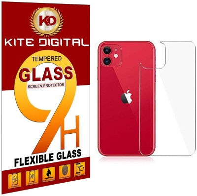 KITE DIGITAL Back Tempered Glass for IPHONE 11 BACK(Pack of 3)