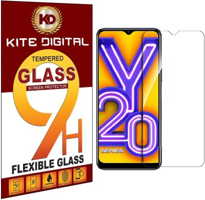 KITE DIGITAL Tempered Glass Guard for VIVO Y20(Pack of 3)