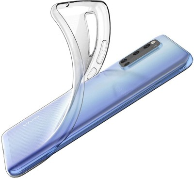 Case Creation Back Cover for Vivo Y20i Soft Phone Case Slim Cover with flexible TPU Technology(Transparent, Camera Bump Protector, Silicon)