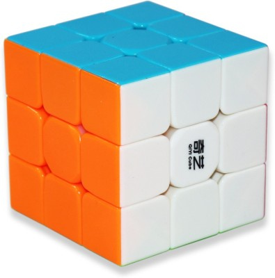 Tector QiYi Warrior 3x3x3 High Speed Stickerless Magic Puzzle Cube - Multicolor (1 Pieces)
