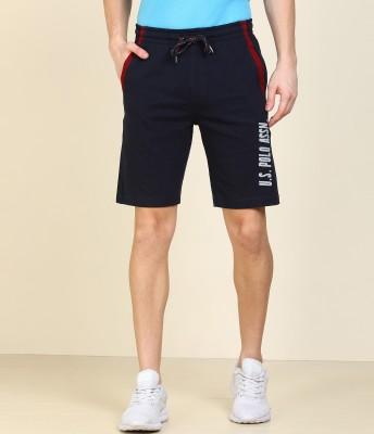 U.S. POLO ASSN. Printed Men Dark Blue Sports Shorts