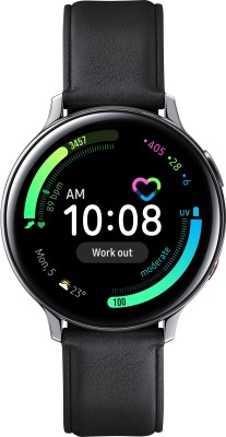 Samsung Galaxy Watch Active 2 Steel LTE Smartwatch(Black Strap, Regular)