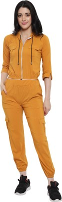 krishnafit Solid Women Track Suit