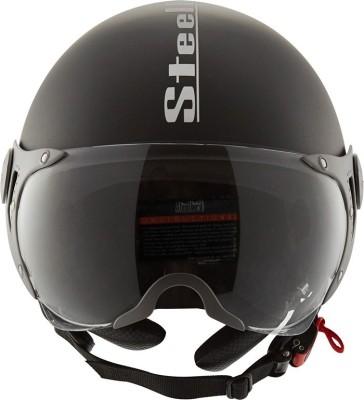 Steelbird SB-27 Style Motorbike Helmet(Black)