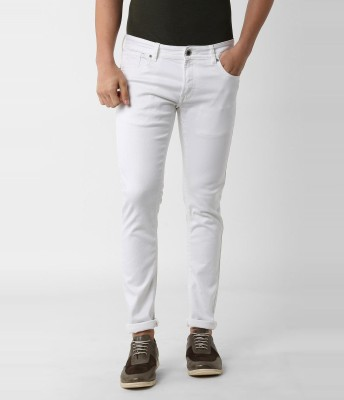 Alpha Fashion Slim Men White Jeans