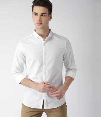 Jai Textiles Men Solid Casual White Shirt