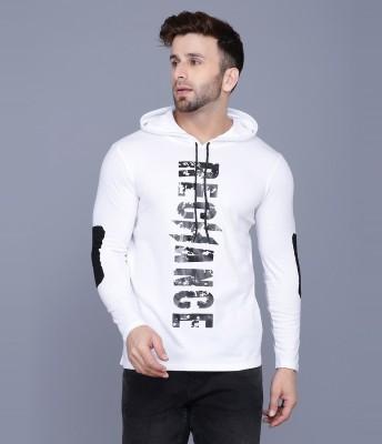 Rockhard Printed Men Hooded Neck White T-Shirt