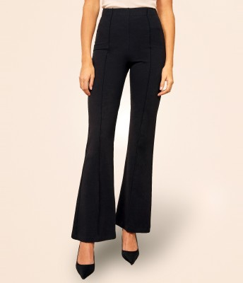 Addyvero Regular Fit Women Black Trousers