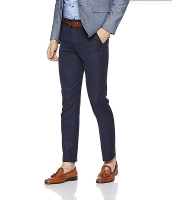 Classio Regular Fit Men Blue Trousers