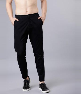 Highlander Slim Fit Men Black Trousers