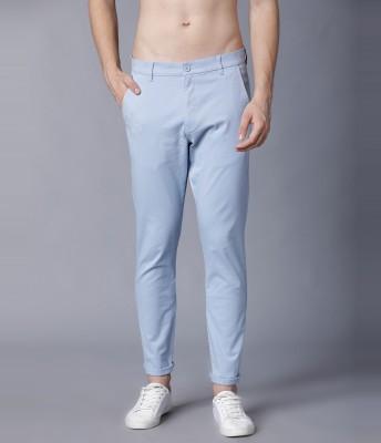 HIGHLANDER Slim Fit Men Light Blue Trousers