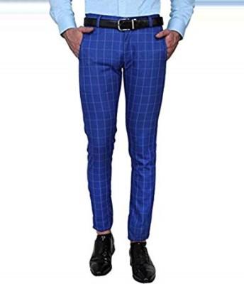 TRULYFAB Slim Fit Men Blue Trousers