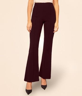 Addyvero Flared Women Maroon Trousers