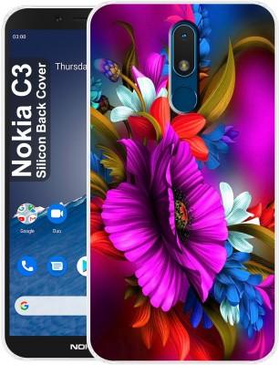 Morenzoprint Back Cover for Nokia C3(Multicolor, Grip Case, Silicon)