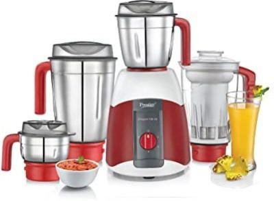 Prestige V2 Elegant 750 Juicer Mixer Grinder (4 Jars, Red, White)