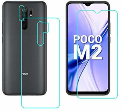 FIRST IMPRESSION Front and Back Tempered Glass for Poco M2(Pack of 2)