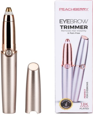 PEACHBERRY Portable Electric Hair Remover Trimmer Epilator Razor Shaver For Legs Underarm Armpit Arms Bikini Line with Washable Blade Head Cordless Rechargeable Runtime: 120 min Trimmer for Women  Runtime: 120 min Trimmer for Women(Gold)