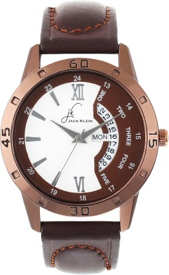JACK KLEIN Sporty Brown Multi Function Day And Date Working Date Time Analog Watch   For Men JACK KLEIN Wrist Watches