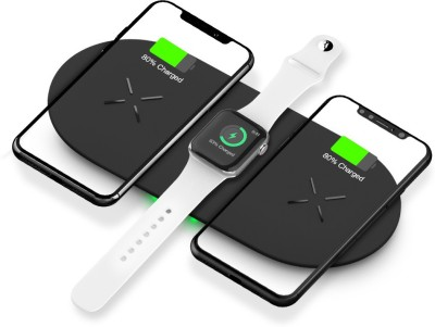 Life Like 3 IN 1 Qi Wireless Fast Charging Pad For iWatch iPhones and Airpods Charging Pad Life Like Wireless Chargers