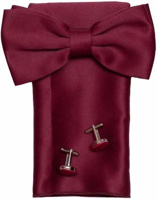 AXLON Satin Tie & Cufflink(Maroon)