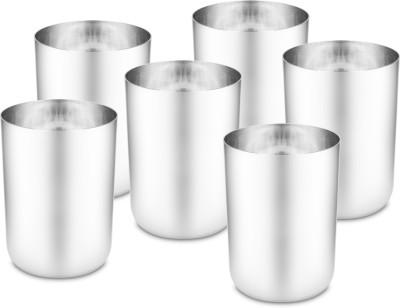 Classic Essentials (Pack of 6) SNB 1719 Glass Set(300 ml, Steel)