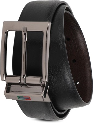 PETER ENGLAND Men Black Synthetic Reversible Belt