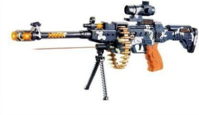 Monakarshti Army Style Machine Toy Gun for Kids with Music, Lights and Laser Light (Multicolor) Guns & Darts (Multicolor)(Multicolor)