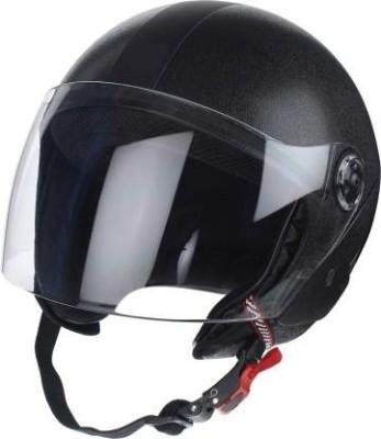 Banyan BVCORP O2 XPERAL HALF FACE HELMET Motorbike Helmet(Black)