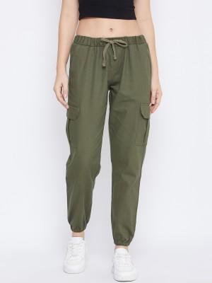 Q-Rious Regular Fit Women Green Trousers