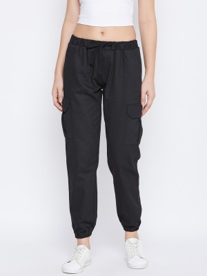Q-Rious Regular Fit Women Black Trousers