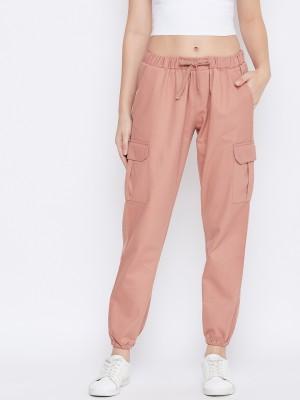 Q-Rious Regular Fit Women Pink Trousers