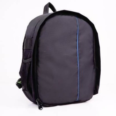 ample italia Shoulder Backpack to Carry DSLR SLR Lens Camera Bag (Blue, Black)  Camera Bag(Blue, Black)