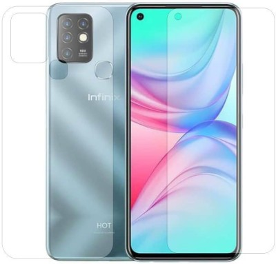 Fashion Way Front and Back Screen Guard for Infinix Hot 10(Pack of 2)