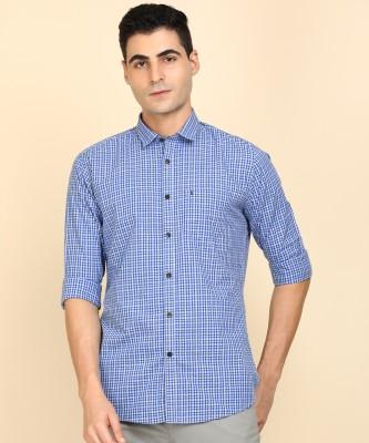 Van Heusen Sport Men Checkered Casual Blue Shirt