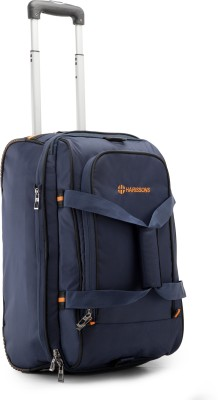 HARISSONS 20 inch/52 cm  Expandable  D Lite Expander Trolley Duffel Strolley Bag Blue HARISSONS Duffel Bags