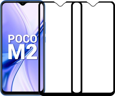Karpine Edge To Edge Tempered Glass for Poco M2(Pack of 2)