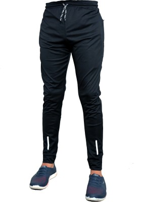 Foxter Solid Men Black Track Pants