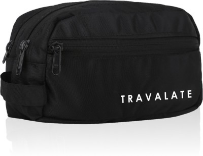 Travalate 2 Zipper Toiletry Bags Makeup Shaving Kit Pouch for Men and Women, Polyester Travel Bag with Belt Travel Toiletry...