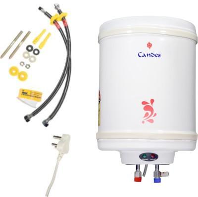 Candes 15 L Storage Water Geyser (15METAL, Ivory)