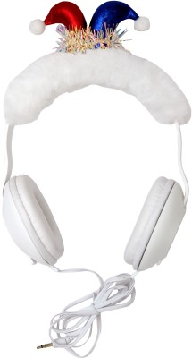 stylie modern Alternatives white fur Super quality kids safe headphones for kids Wired Headset(White, On the Ear)