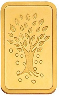 Kundan Kalpataru Tree Gold Bar 24  9999  K 8 g Yellow Gold Coin Kundan Coins   Bars