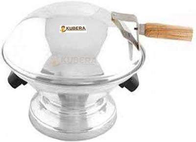 kubera KUBERA Tandoor Bati Maker Baking Oven, 25 x 25 x 35 cm, 1 Piece, Silver Gas Tandoor, Barbecue Grill...