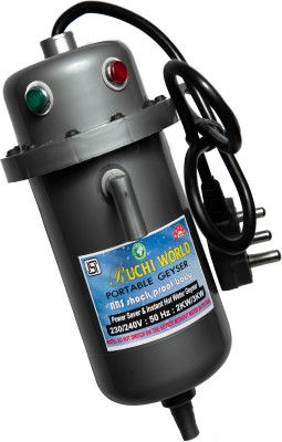Ruchi World 1 L Storage Water Geyser (1 L Instant Water Geyser (PORTABLE GEYSER)Useful for Kitchen, quick water heating, Black)