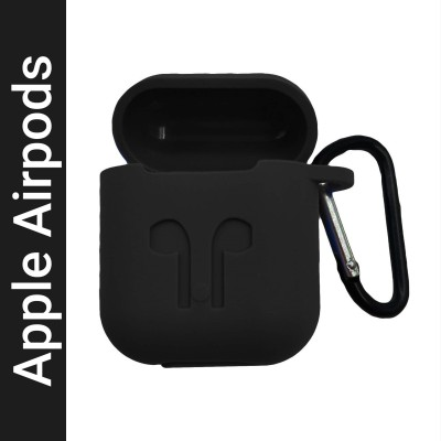 Colorcase Front & Back Case for Apple AirPods 1/2 (This is only Airpod Case)(Black, Flexible, Silicon)