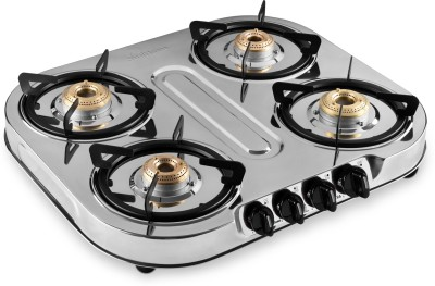 Sunflame LPG STOVE OPTRA 4B Stainless Steel Manual Gas Stove(4 Burners)
