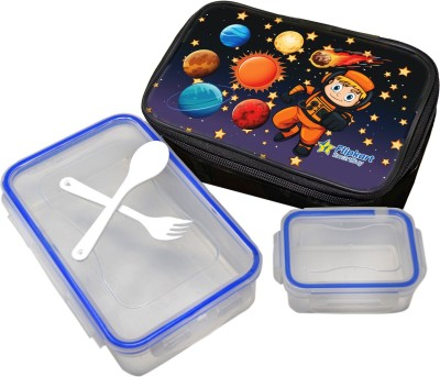 Flipkart SmartBuy Lock & Fit Small (800ml+125ml) with Bag, Folk & Spoon 1 Containers Lunch Box (925 ml)