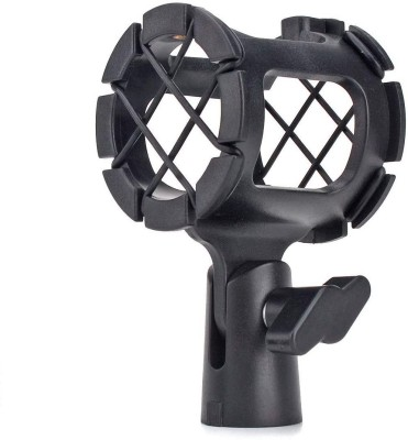 MX Microphone Holder with Anti Shock and Rubber Suspension For Microphones 3433B Mic Holder for Microphone Stand(Black)