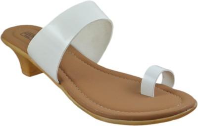 LEATHERWOOD1 Women White Heels LEATHERWOOD1 Heels